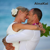 white, Ainakai hawaii wedding photography