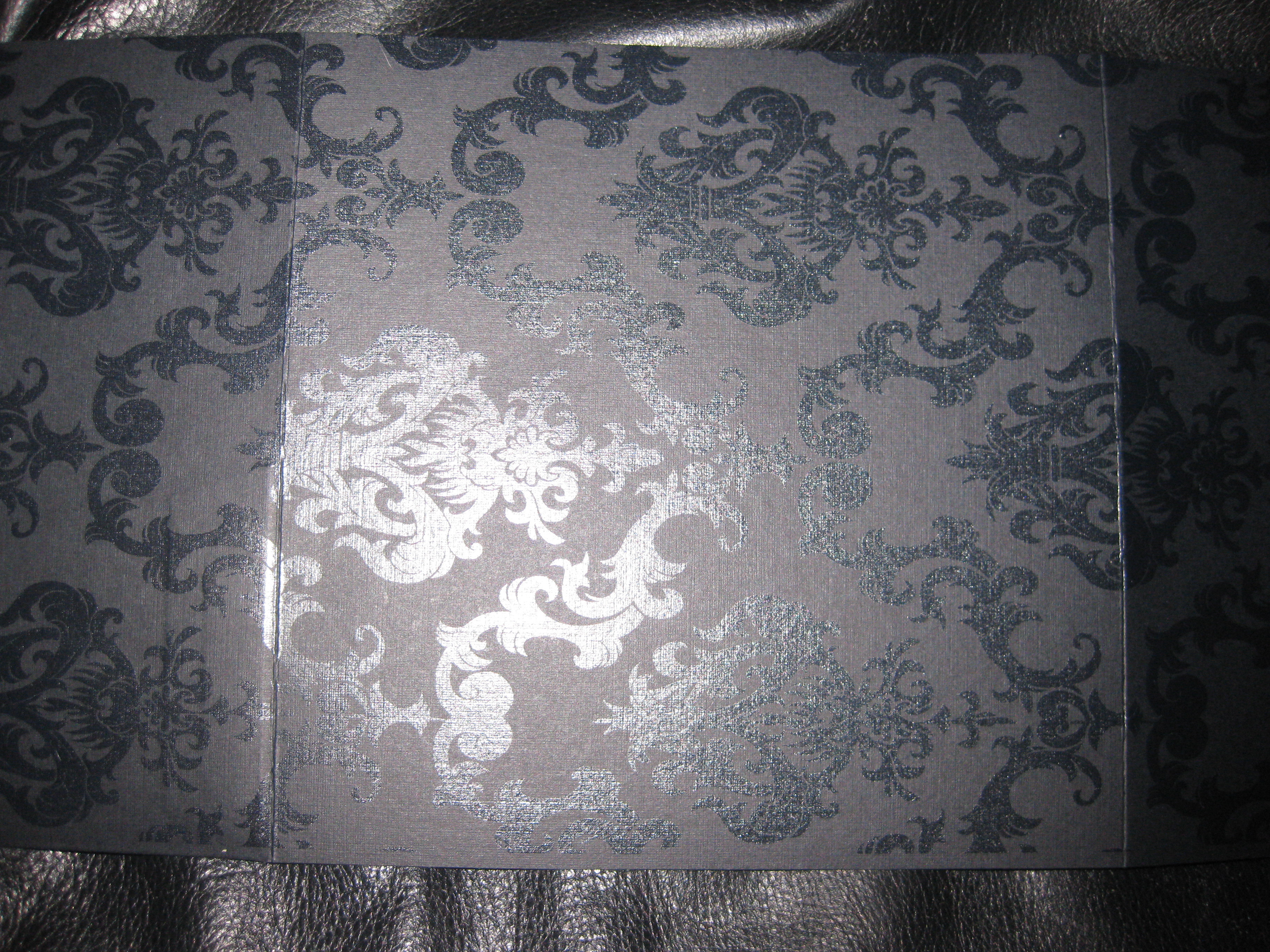 Stationery, white, black, Invitations, Damask