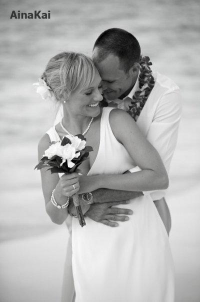 Beach, Couple, Ainakai hawaii wedding photography