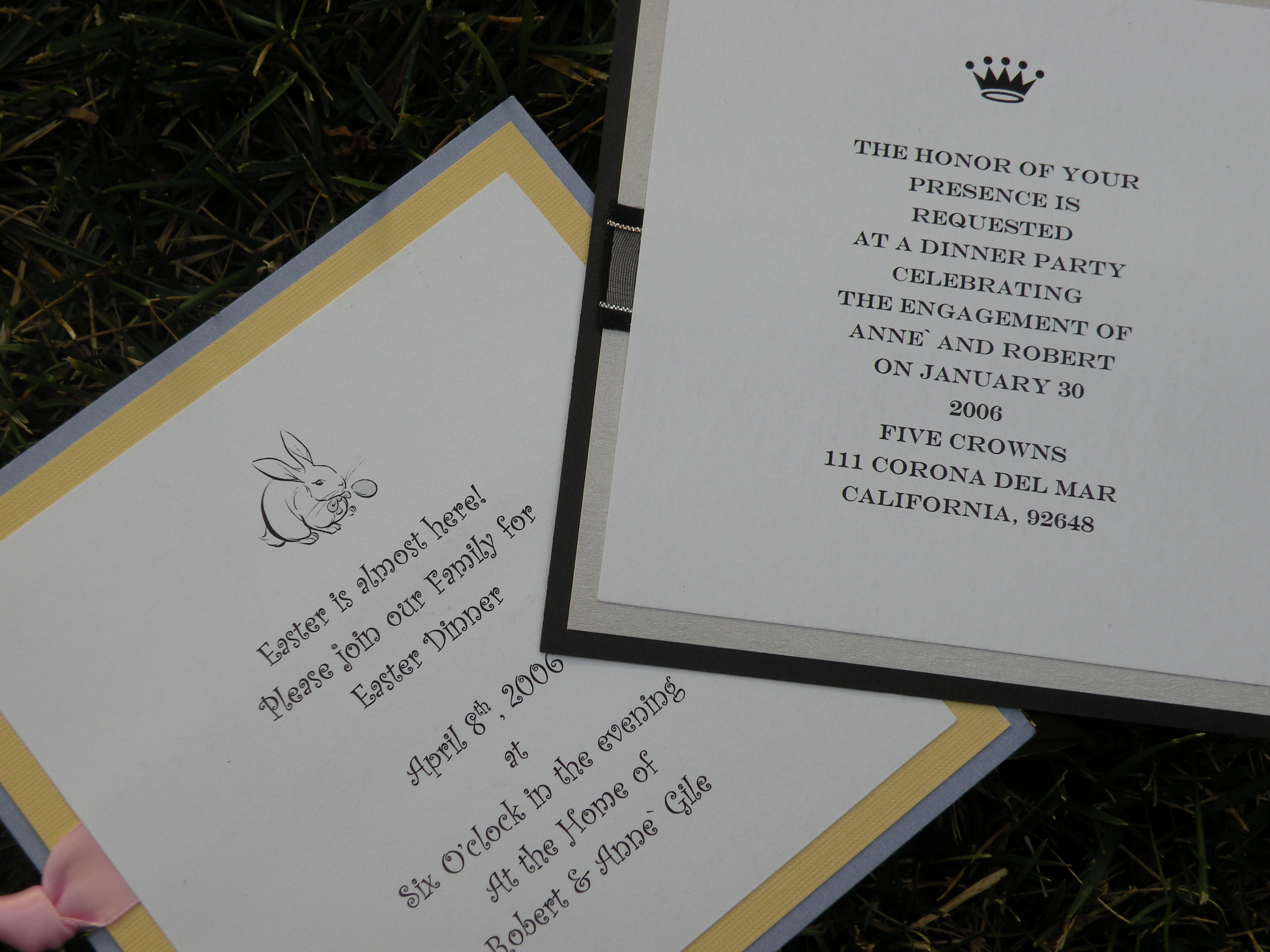 Stationery, white, yellow, pink, blue, black, silver, Invitations, Whitney westberry events and invitations