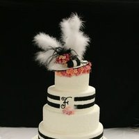 Cakes, white, black, cake, Wedding, Fairytales custom cakery