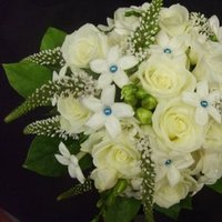 Ceremony, Flowers & Decor, white, blue, Ceremony Flowers, Bride Bouquets, Flowers, Flower, Bouquet, Brides, Roseannes floral