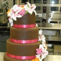 Cakes, white, yellow, orange, pink, brown, cake, Wedding, Tropical, Fairytales custom cakery