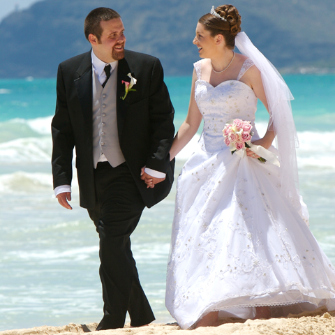 Destinations, blue, Hawaii, Beach, Couple