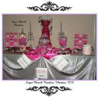 Favors & Gifts, Cakes, pink, black, cake, Favors, Wedding, Candy, Buffet, Stations, Sugar bunch creations