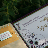Stationery, purple, blue, gold, invitation, Invitations, Custom, Crystal, Moya lara exquisite wedding invitations