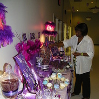 Reception, Flowers & Decor, Favors & Gifts, Cakes, purple, cake, Favors, Party, Candy, Buffet, Stations, Sugar bunch creations