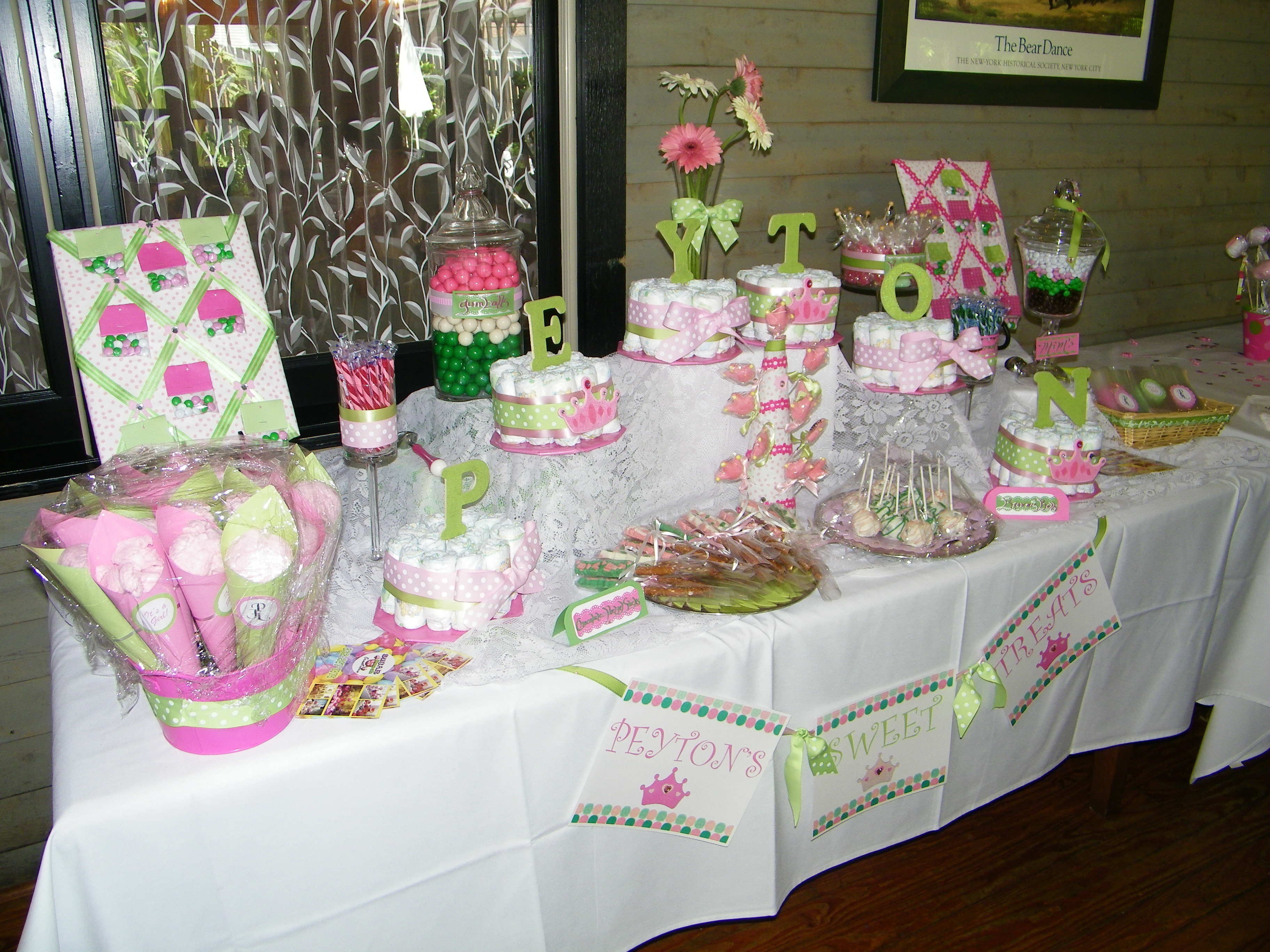 Reception, Flowers & Decor, Favors & Gifts, Bridesmaids, Bridesmaids Dresses, Cakes, Fashion, white, pink, green, cake, Favors, Party, Bridal, Candy, Buffet, Shower, Stations, Sugar bunch creations