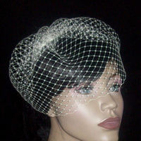 Beauty, Veils, Fashion, white, Short Hair, Veil, Custom, Hair, Short, Birdcage, Face, Netting, Russian, Occansey designs wedding veils - obridalcom, Short Wedding Dresses