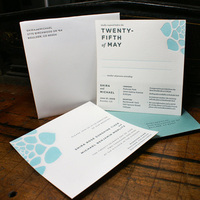 Stationery, white, blue, invitation, Invitations, Custom, Letterpress, Wedding invitation, Contemporary, Lettra, Smokeproof press