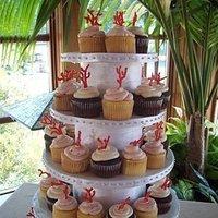 Cakes, white, orange, cake, Beach, Coral, The hudson cakery