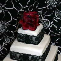 Cakes, white, black, cake, Maggies sweets