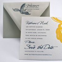 Stationery, white, yellow, invitation, Invitations, Custom, Letterpress, Botanical, Wedding invitation, Smokeproof press, Arches watercolor