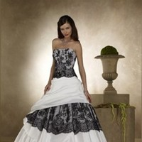 Wedding Dresses, Fashion, white, black, dress