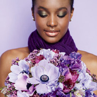 purple, Bride Bouquets, Bridesmaid Bouquets