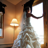 Hair, white, dress, Bride, gold, Gown, Window, Studio six-o-three photography, Fashion, Wedding Dresses, Beauty