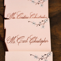 Ceremony, Flowers & Decor, Decor, Stationery, pink, brown, Ceremony Flowers, Place Cards, Flowers, Programs, Placecards