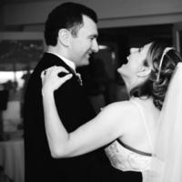 Reception, Flowers & Decor, white, black, Bride, Groom, Dance, First
