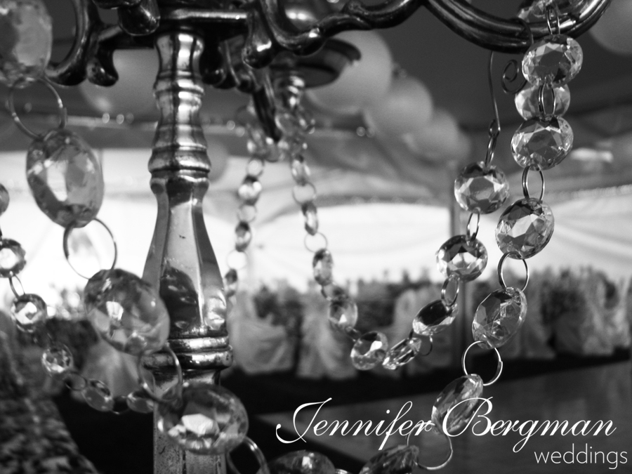Reception, Flowers & Decor, silver, Centerpieces, Centerpiece, Elegant, Tent, Chandelier, Crystals, Outdoor wedding, Edmonton, Alberta, Jennifer bergman weddings, Head table decor