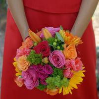 Flowers & Decor, Wedding Dresses, Fashion, yellow, orange, pink, red, green, dress, Flowers, Lisa crates photography, Flower Wedding Dresses