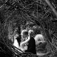 white, black, Bride, Groom, Wedding, And, La, Los, Angeles, Gardens, A obrien photography, Arboretum, Catawumpus