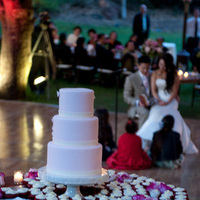 Reception, cake, pink, white, green, dress, brown, Groom, Chandelier, Guests, Cakes, Fashion, Wedding Dresses, Flowers & Decor