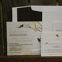 Stationery, white, yellow, brown, gold, invitation, Invitations, Wedding, Suite, Dahlia press