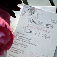 Bridesmaids, Bridesmaids Dresses, Stationery, Fashion, white, pink, purple, black, Invitations, Dahlia press