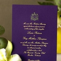 Stationery, purple, gold, Invitations, Glam wedding invitation