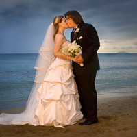 Ceremony, Reception, Flowers & Decor, Wedding Dresses, Beach Wedding Dresses, Fashion, dress, Beach, Bride, Beach Wedding Flowers & Decor, Groom, Kiss, And, Nestor a ruiz photography