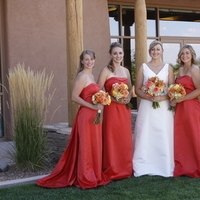Flowers & Decor, Bridesmaids, Bridesmaids Dresses, Fashion, orange, Bridesmaid Bouquets, Flowers, Flower Wedding Dresses