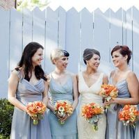Bridesmaids, Bridesmaids Dresses, Fashion, orange, blue, silver, Jade mccully photography