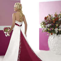 Wedding Dresses, Fashion, white, red, dress