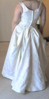 Wedding Dresses, Fashion, ivory, dress, Bridal, Bustle, Emme, Da vinci