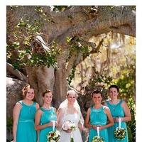 Flowers & Decor, Bridesmaids, Bridesmaids Dresses, Wedding Dresses, Fashion, blue, green, dress, Bridesmaid Bouquets, Flowers, Artistic avenues, Flower Wedding Dresses
