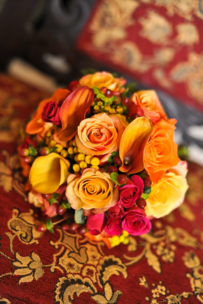 Reception, Flowers & Decor, yellow, orange, pink, red, Centerpieces, Flowers, Centerpiece