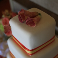 Reception, Flowers & Decor, Cakes, orange, cake, Flowers