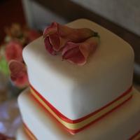 Reception, Flowers & Decor, Cakes, orange, cake, Flowers