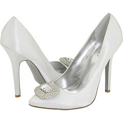 white, ivory, Wedding, Bridal, Jewel, Pump, Zappos