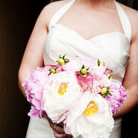 Flowers & Decor, Wedding Dresses, Fashion, white, pink, dress, Bride Bouquets, Bride, Flowers, Bouquet, Getting, Ready, With, Blueberry photography, Flower Wedding Dresses