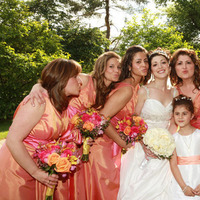 Bridesmaids, Bridesmaids Dresses, Fashion, orange, gold, Palomino floral designs inc