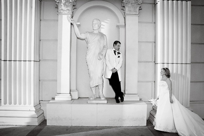 white, black, Imagine studios llc, Caesars palace wedding photo