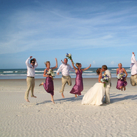 Inspiration, Bridesmaids, Bridesmaids Dresses, Beach Wedding Dresses, Fashion, pink, purple, Beach, Party, Bridal, Board, Florida, Jumping, Tan, Fuschia, Coture, Daytona, Jucy, Lyndsey roberts photography