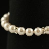 Jewelry, white, silver, Bracelets, Elegant, Crystal, Bracelet, Rhinestone, Handcrafted, Plumb crazy