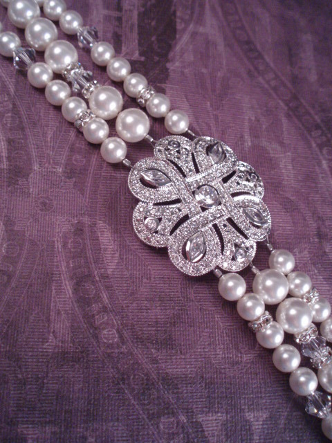 Jewelry, Bridesmaids, Bridesmaids Dresses, Fashion, white, ivory, silver, Bracelets, Brooches, Bride, Bridesmaid, Bridal, Pearls, Crystal, Cream, Bracelet, Swarovski, Ornate, Brooch, Rhinestone, Knot, Hollywood, Art, Glamour, Filigree, Deco, Dana saylor designs, Celtic, Pave, Clasp