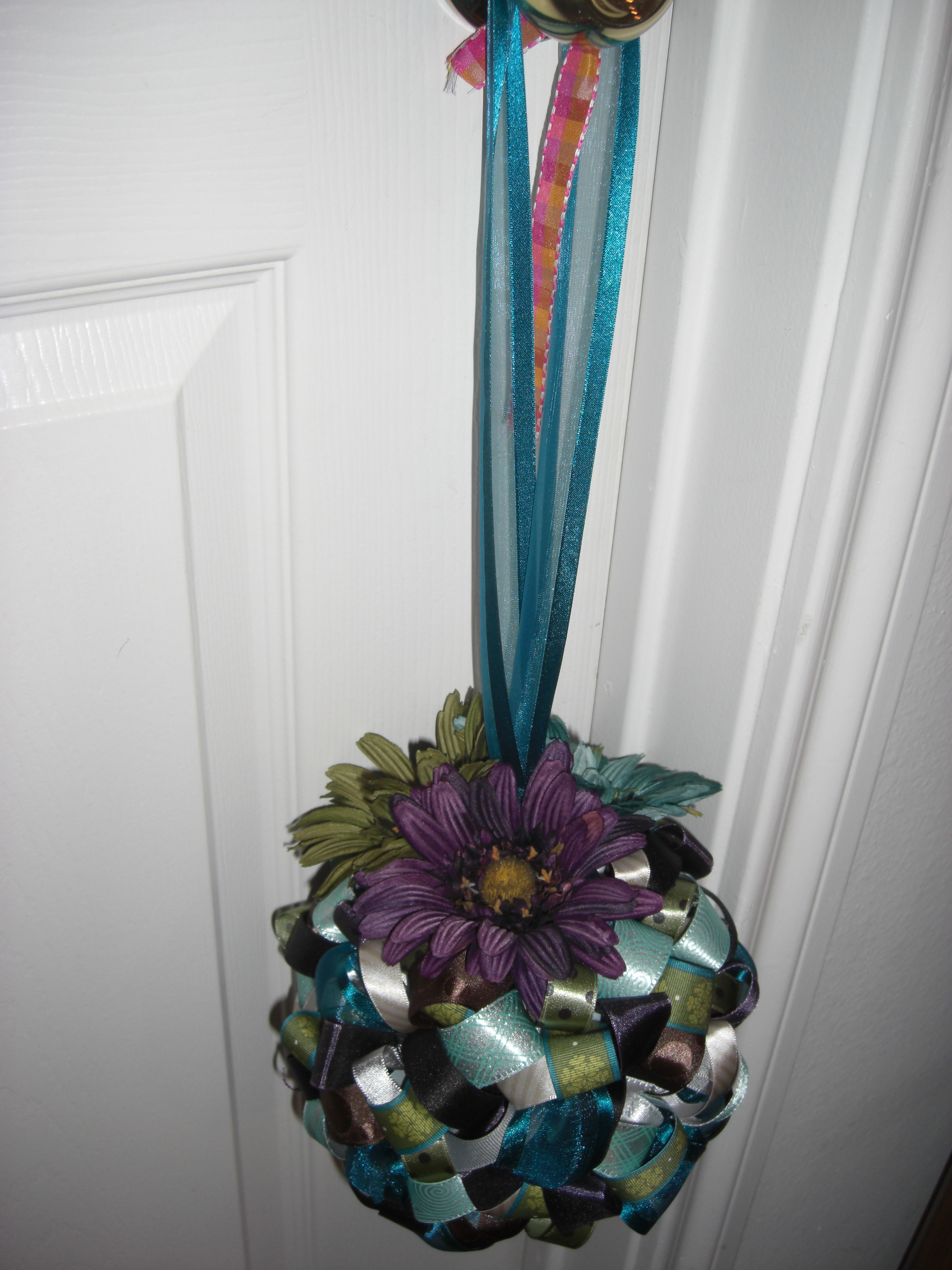 Ceremony, DIY, Reception, Flowers & Decor, purple, blue, green, Decorations, Pomanders