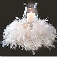 Beauty, Reception, Flowers & Decor, Feathers, Centerpieces, Centerpiece, Candle, Feather