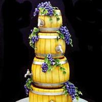 Cakes, yellow, purple, green, gold, cake