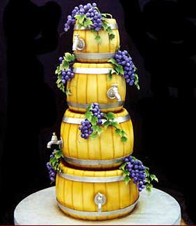 Cakes, yellow, purple, green, gold, cake