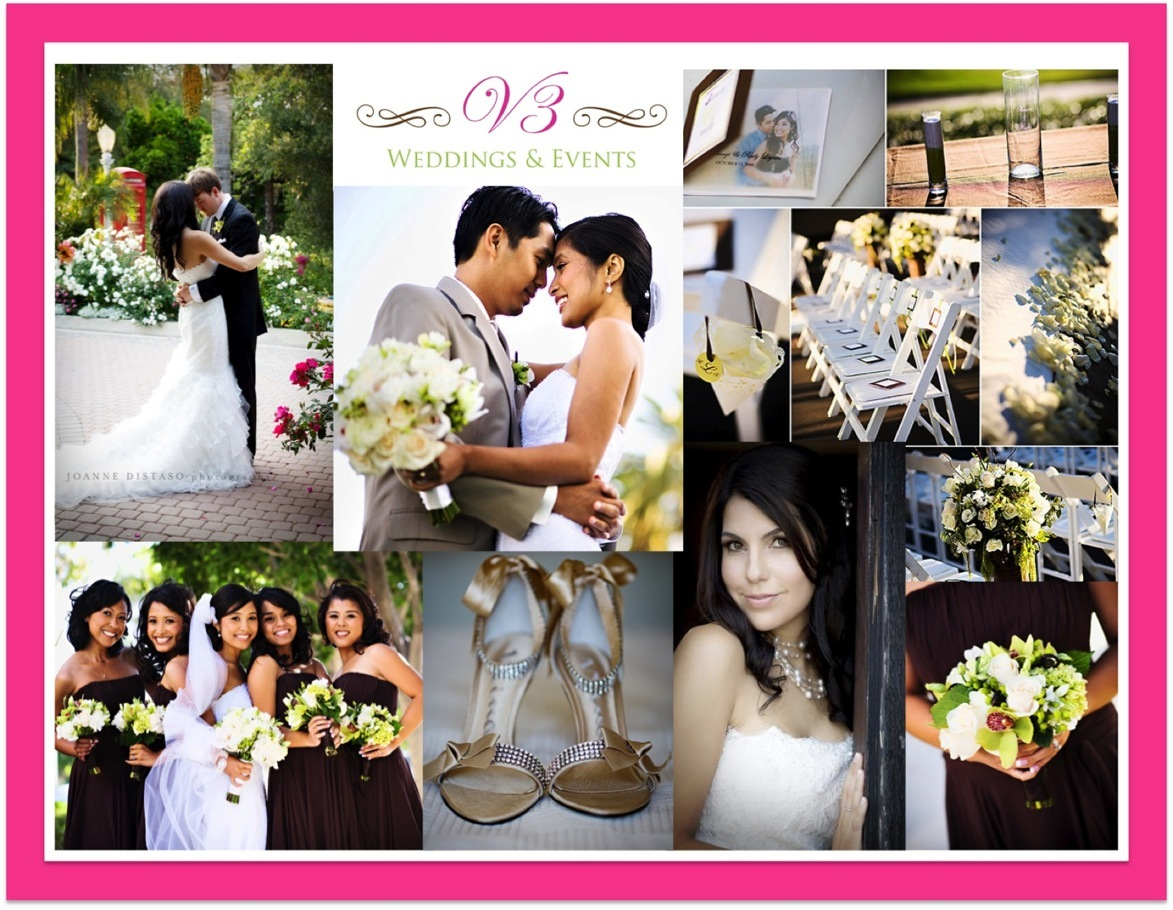 Inspiration, white, pink, green, brown, Board, V3 weddings events